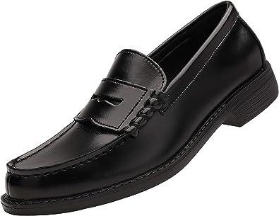Yaer Classique Mocassins en Homme Cuir Fait /à la Main Penny Loafers Flat Business Chaussure Bateau Noir Bourgogne Kaki