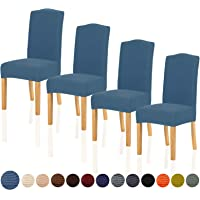 TIANSHU Fundas para sillas Pack de 4,Poliéster Elástica