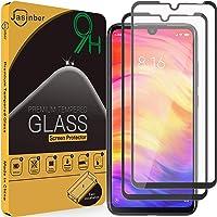 Jasinber 2-Pack Mica Vidrio Cristal Templado Protector de Pantalla para Xiaomi Redmi Note 7 (Negro)