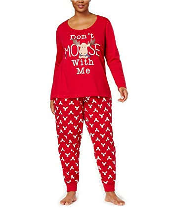 d52055a9d9 Family Pajamas Womens Plus Size Moose Pajama Moose Print 1X at Amazon  Women s Clothing store
