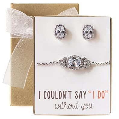 047715b95 Image Unavailable. Image not available for. Color: AMY O Crystal Bracelet  and Earring Set, Wedding Jewelry ...
