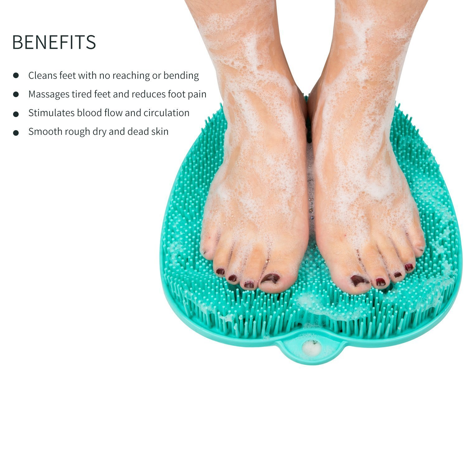 YaFex Shower Foot Massager Scrubber & Cleaner for Shower Floor, Add A Pedicure Foot File Callus Remover for Foot Health