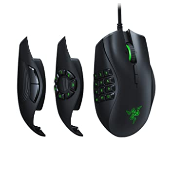 Razer Naga Trinity MOBA MMO Gaming Mouse 3 Interchangeable Side Plates Precise 16000
