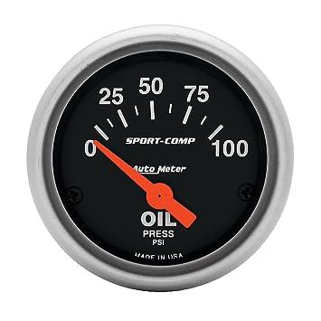 Amazon.com: Auto Meter 3327 sport-comp Medidor de presión de ...