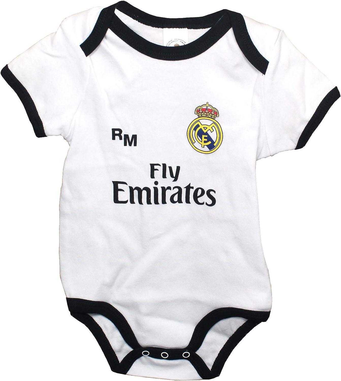 Real Madrid FC Body Niños - Producto Oficial Primera equipación 2018/2019 - Personalizable - Nombre