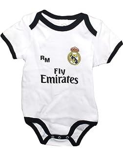 Real Madrid FC Body Niños - Producto Oficial Primera equipación 2018 2019 -  Personalizable - 8ace6a64e0649