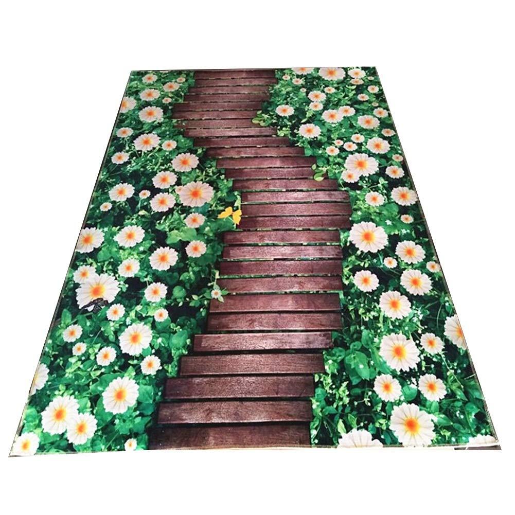 廊下カーペット敷物 ランナーカーペット 3D印刷カーペット マット-ブレンドされたノンスリップ性の創造的な入り口の入り口 CONGMING (色 : Huahai Road, サイズ さいず : 1*9m) 1*9m Huahai Road B07MSCT1L3