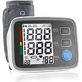 Misuratore di Pressione, Digitale Monitor di Pressione Sanguigna per Braccio. La Fascia è Regolabile per Aritmie Cardiache, di Ipertensione Severa, due Persone Memoria, Bianca