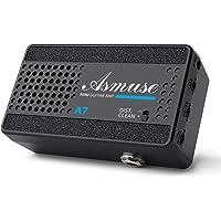 Asmuse Mini Amplificador de Guitarra Eléctrica Altavoz Portátil de 3W para Bajo, Amp Combo de 2 Canales Limpio y…