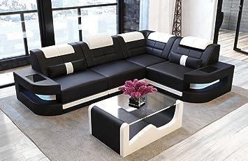 Divano in pelle como a forma di l bianco e nero divano divano