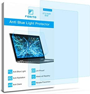 2-Pack 17.3 Inch Screen Protector -Blue Light and Anti Glare Filter, FORITO Eye Protection Blue Light Blocking & Anti Glare Screen Protector for 17.3 Inch with 16:9 Aspect Ratio Display Laptop