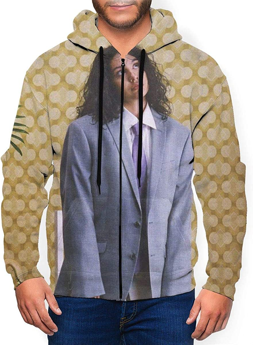 Honey GD Mens Plus Size Stylish Cardigan Solid Color Thin Hooded?Vest