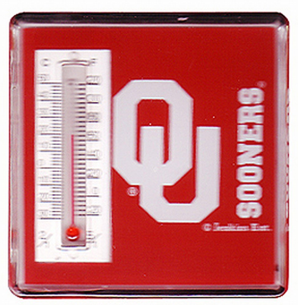NCAA Oklahoma Sooners Magnetic Lucite Thermometer