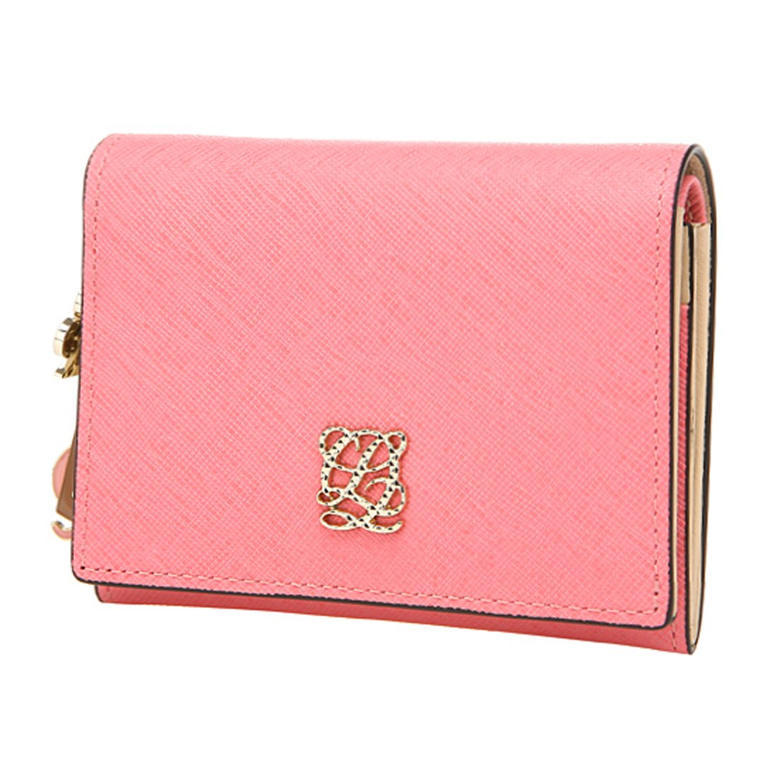 LOUIS QUATORZE Women's Cow Leather Business Card Case SG1AL09SMP One Size Pink by LQ LOUIS QUATORZE