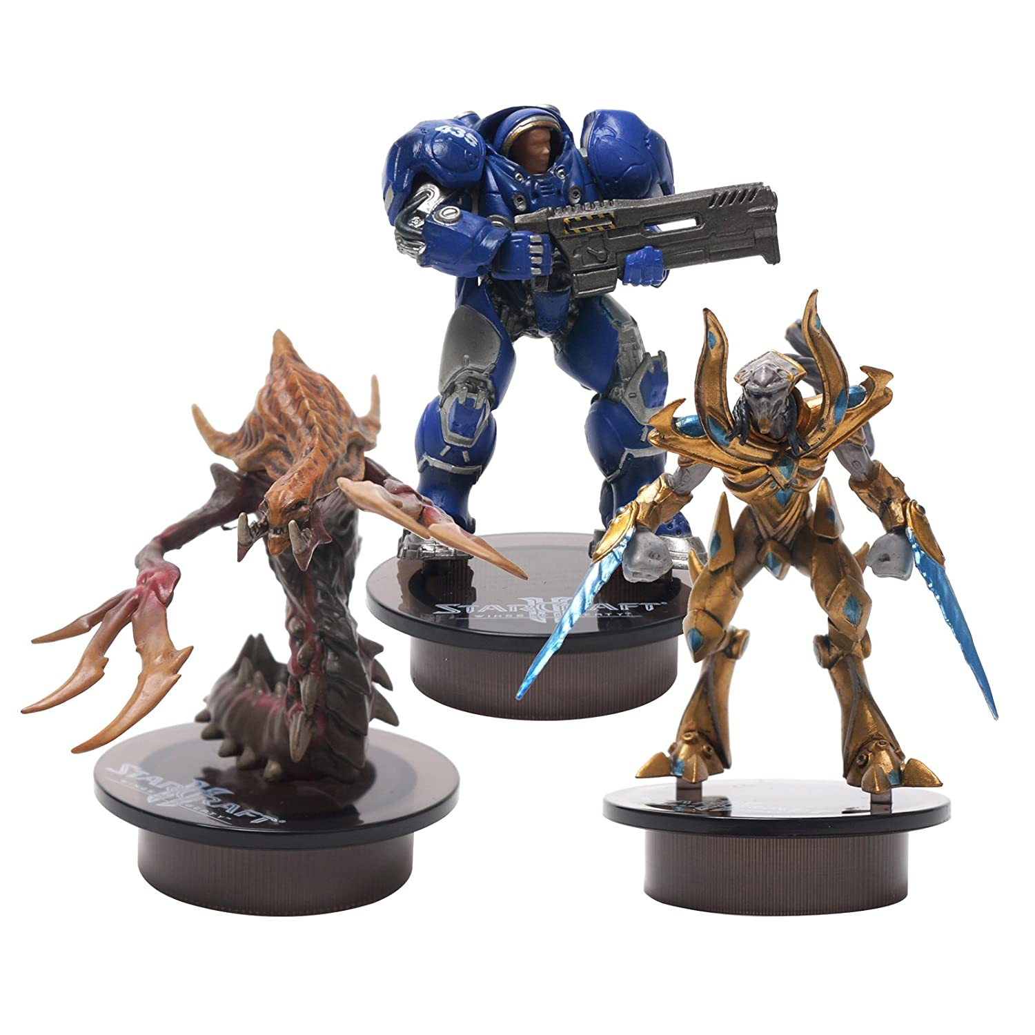 [STARCRAFT 2 KOTOBUKIYA] TERRAN (Marine), PROTOSS (Zealot) , HYDRALISK (Zerg) Bottle Cap Figure Collection Miniature 3 pcs Set by Kotobukiya