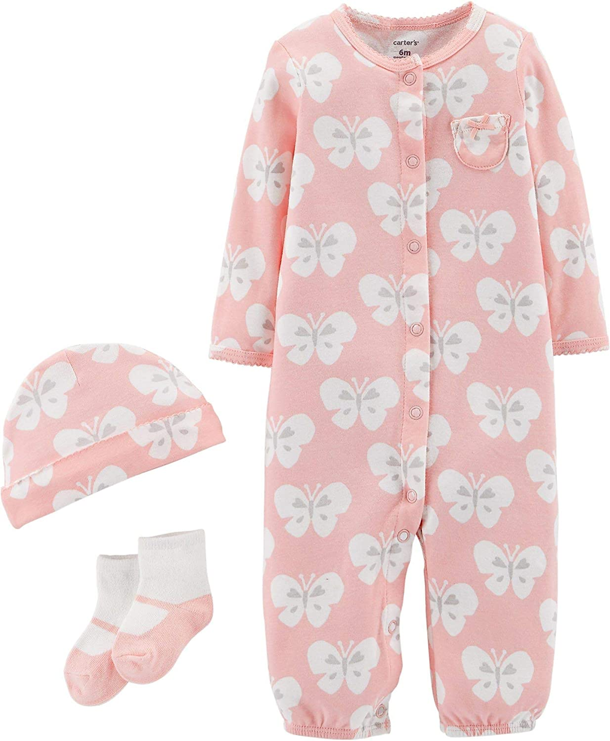 Pink Baby Carters Baby Girls 4 Piece Layette Set