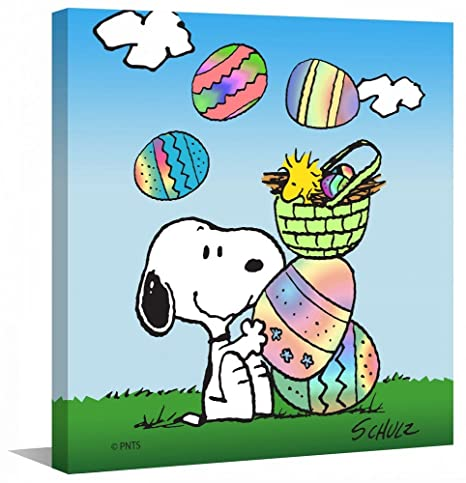 Peanuts Snoopy Mh Pew 10 C 24 Pasqua Tela Artistica Da Parete 61