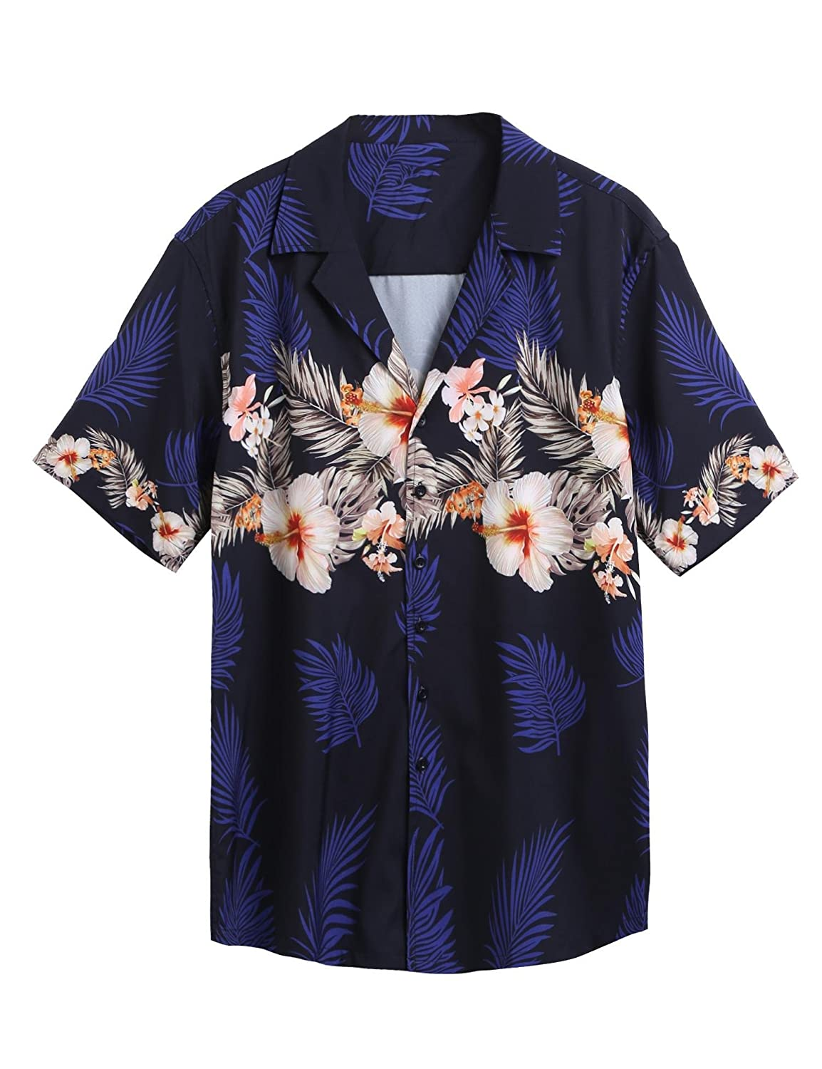 6e6ce3b0 ✿Flower Printed Aloha Hawaiian Shirt with soft, thin and very light  material and is therefore ideal for hot and sunny days to wear. ✿Slim fit, Button  down ...
