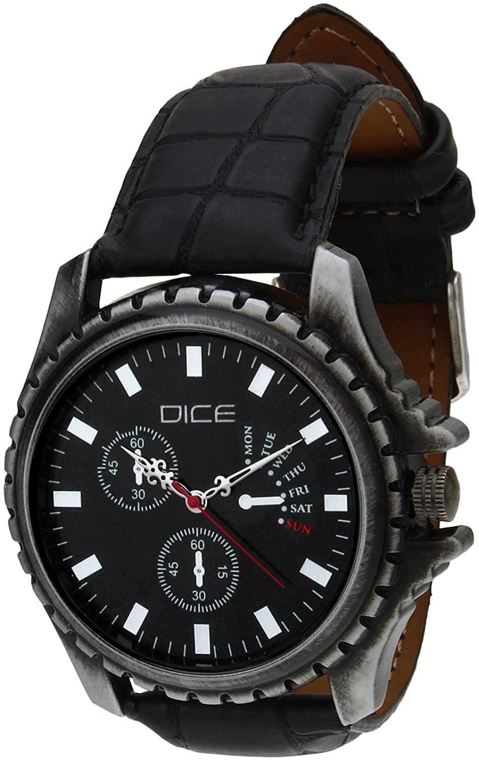 Dice Analogue Black Dial Watch For Men EXPSG-B178-2907