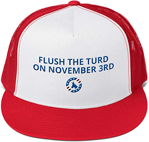 Flush The Turd On November Third Adjustable Jeans Cap Baseball Cap Unisex Classic Polo Style Cap