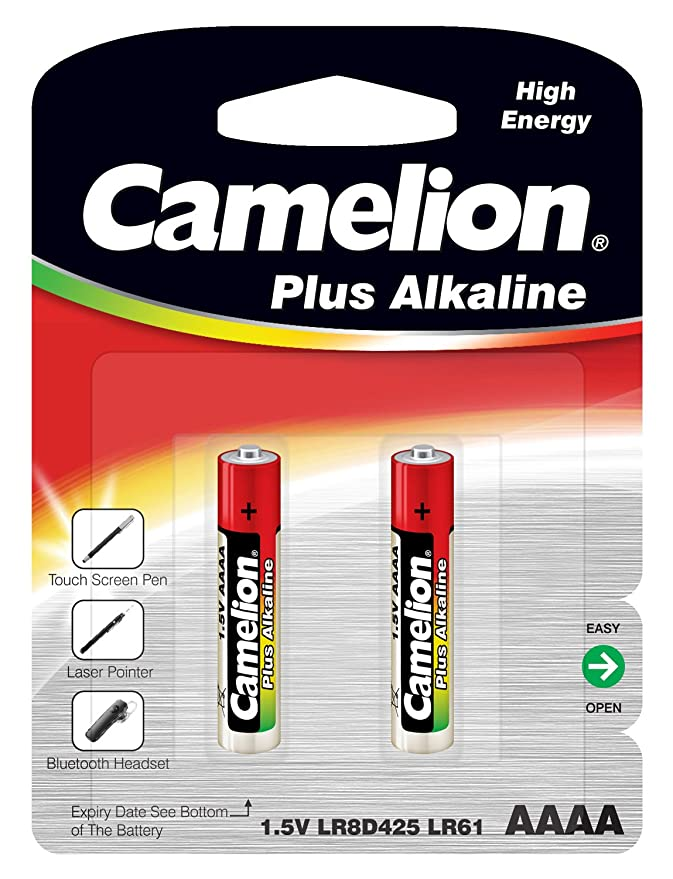 Camelion Pack of 2 Alkaline Batteries LR61 AAAA MN 2500 E96 General Purpose Batteries & Battery Chargers at amazon