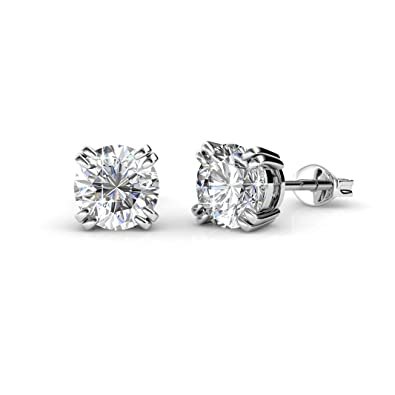 Private Twinkle 18ct White Gold Plated Stud Earrings Made With