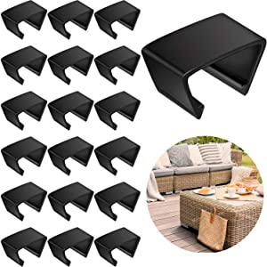 20 Pieces Outdoor Furniture Clips Patio Sofa Clips Rattan Furniture Clamps Wicker Chair Fasteners, Connect The Sectional or Module Outdoor Couch Patio Furniture
