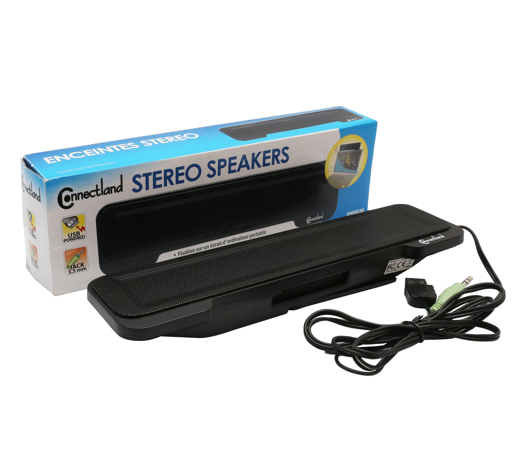 Connectland USB Powered Portable Stereo Sound Speaker Bar Mounts to Laptop Screen - CL-SPK20138 by Syba (Image #7)