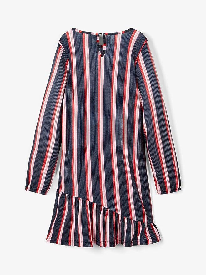 NAME IT Nmflatinna LS Knit Dress Atuendo de Jugador para Ni/ñas