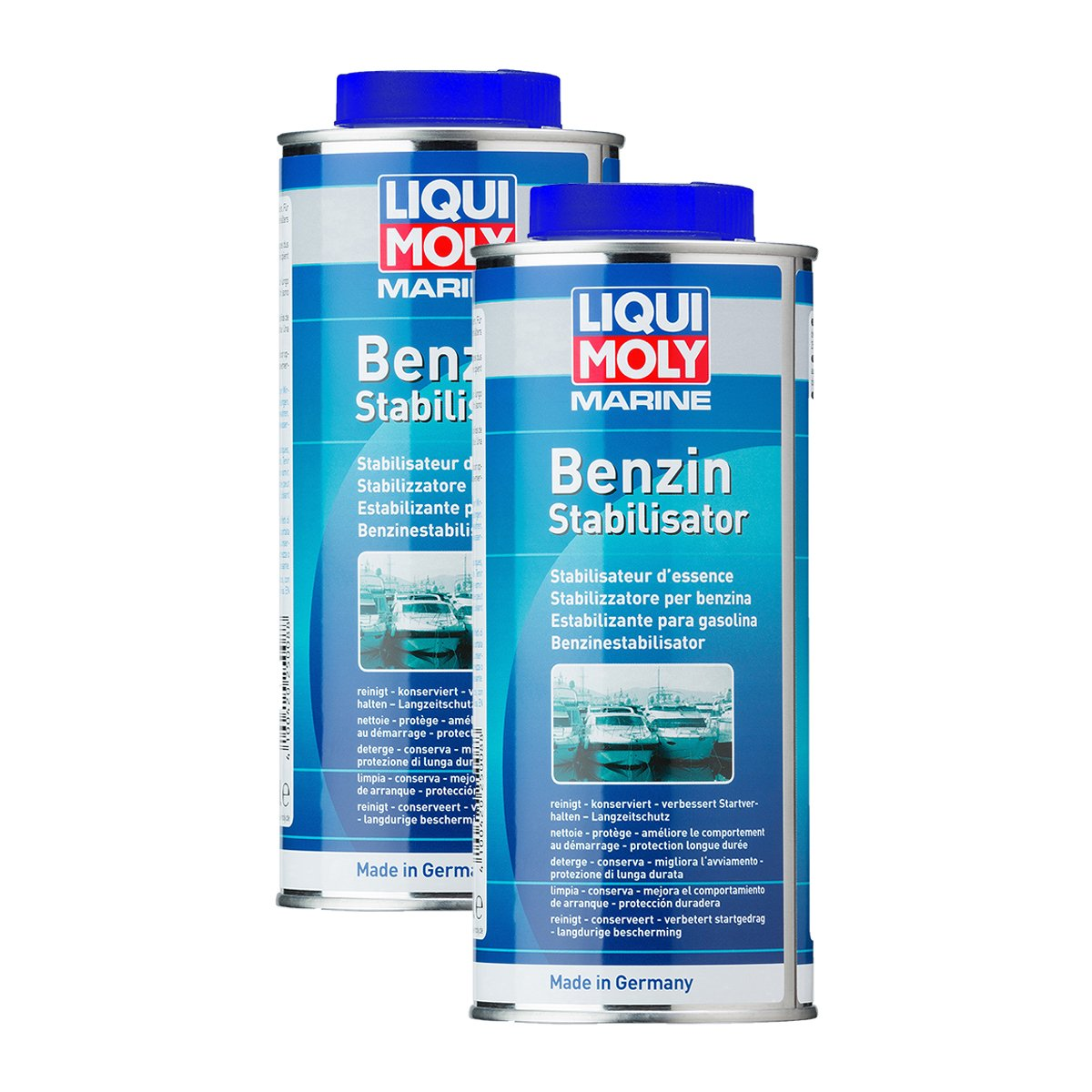 2x LIQUI MOLY 25008 Marine Benzin-Stabilisator 500ml