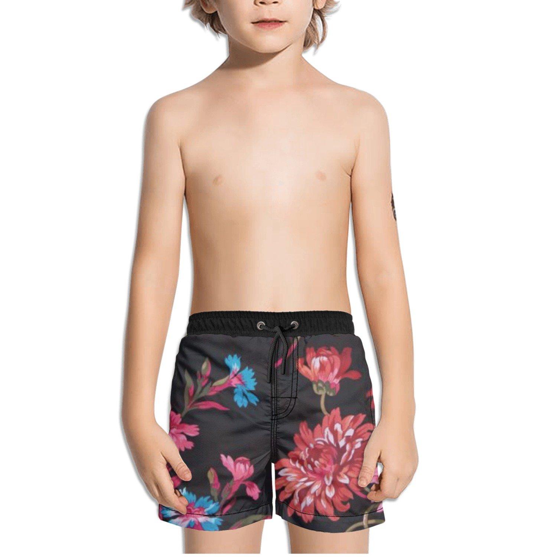 Ouxioaz Boys Swim Trunk Red Flower Beautiful Beach Board Shorts