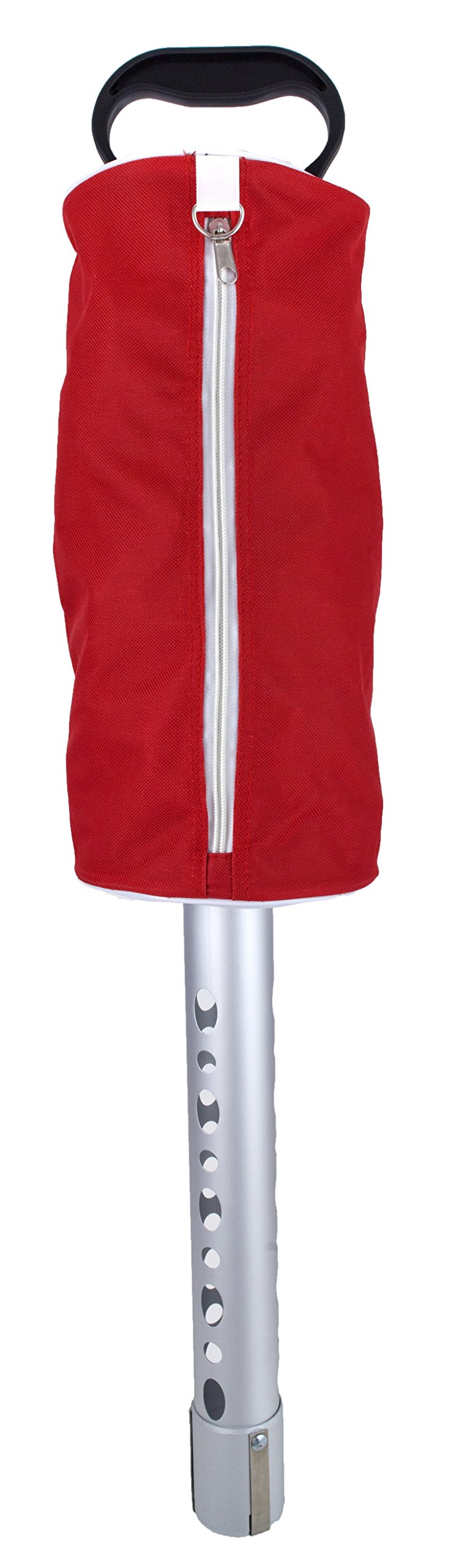 Zip-Up Golf Ball Shag Bag (Red) by ProActive Sports