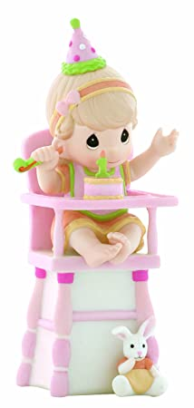 Precious Moments Hip, Hip, Hooray, You re One Year Old Today Girl Figurine