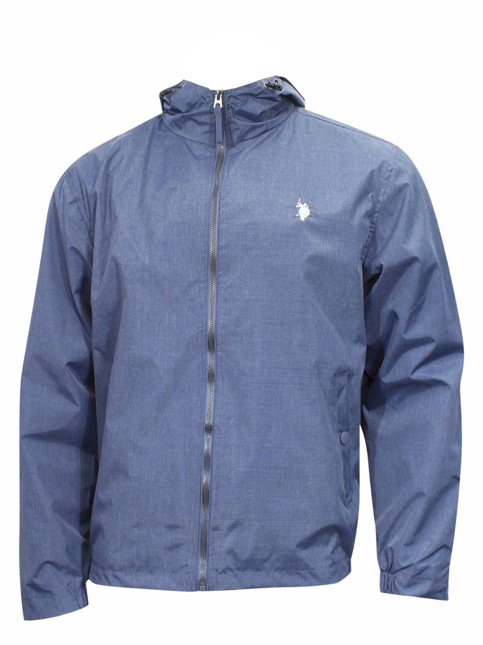 U.S. Polo Assn. OUTERWEAR メンズ B0779861NX Large|Classic Navy Heather/Lmhh Classic Navy Heather/Lmhh Large