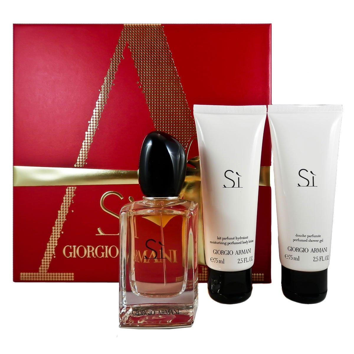 begrenzte garantie unglaubliche Preise erstklassig Giorgio Armani Si 50ml Eau De Parfum - 75ml Shower Gel - 75ml Body Lotion  Set For Women