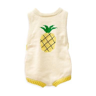 5f4fdd72c Amazon.com  Estella Organic Cotton Baby Romper - Pineapple 0-3M ...