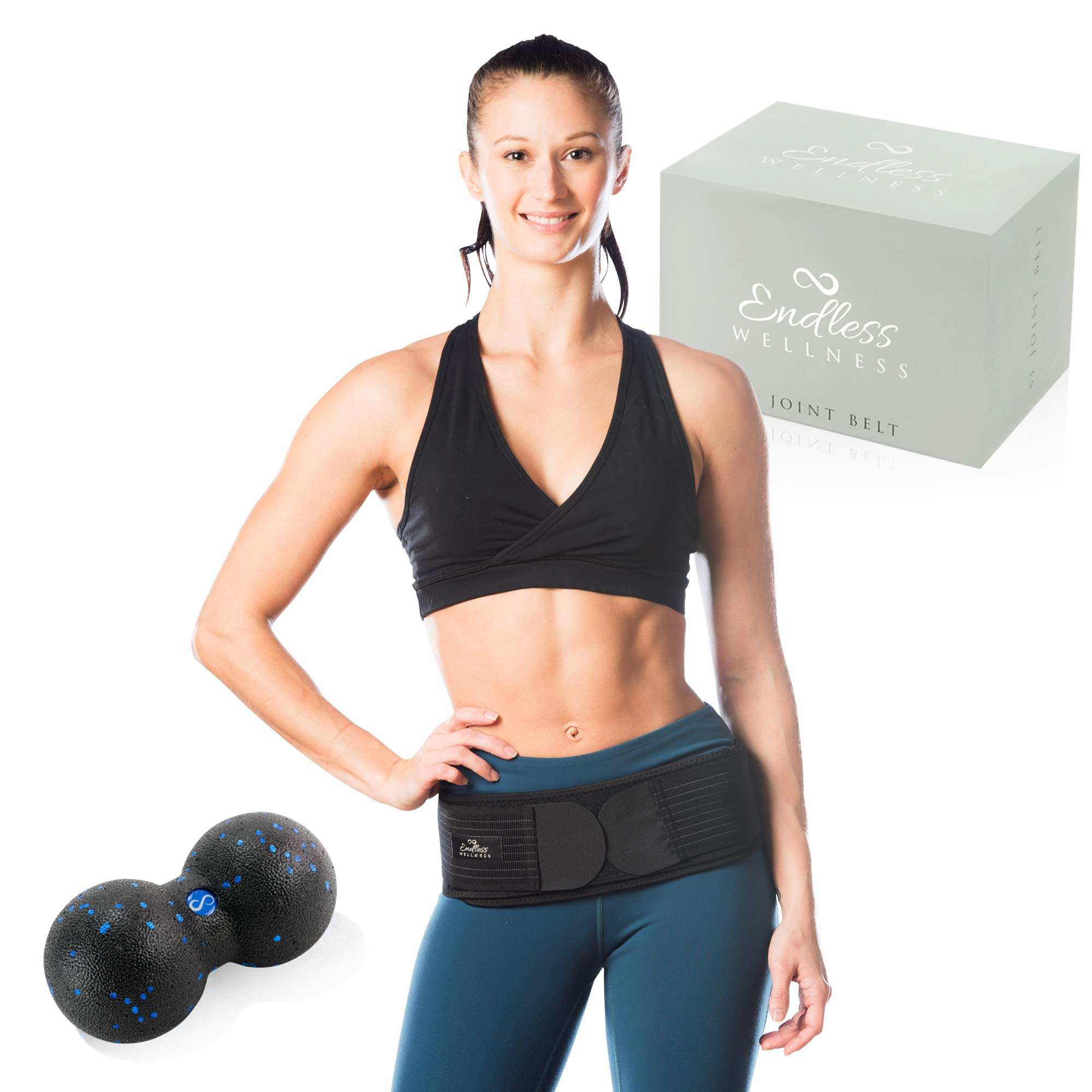 Si belt – Lower Back Support Belt for Women and Men – Stabilizes and Relieves Pelvic and SI Joint Pain *BONUS BUNDLE DUAL MASSAGE BALL + E-BOOK* Discreet Fit Sacroiliac Belt and Lower Back Hip Brace !