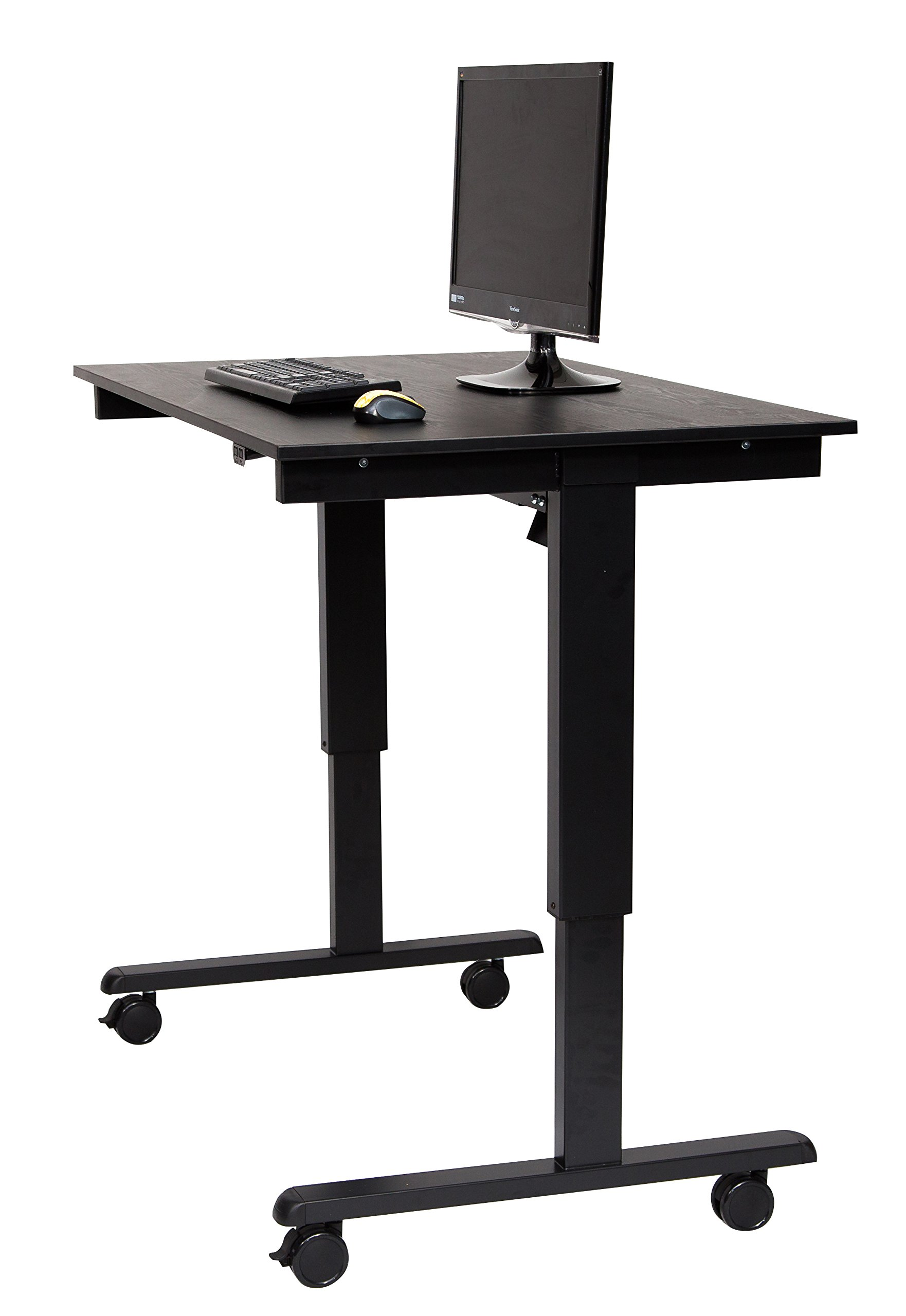 Electric Standing Desk (Desk Length: 48˝, Black Frame / Black Oak Top) by Stand Up Desk Store