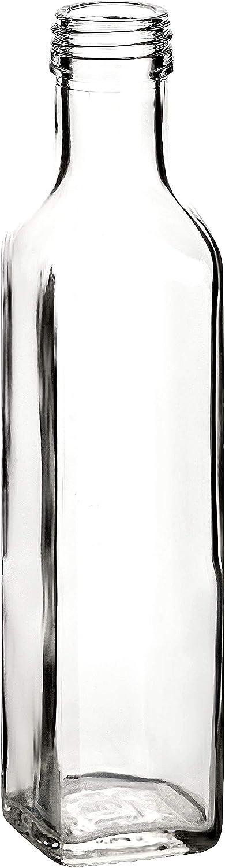 /'6/24/bottiglie di vetro vuote 100/ml//ml//500ML quadrato a vite per riempire//liquore bottiglia Maraska//0.25/l//0.5/l, 250 ml 0.1/bottiglia