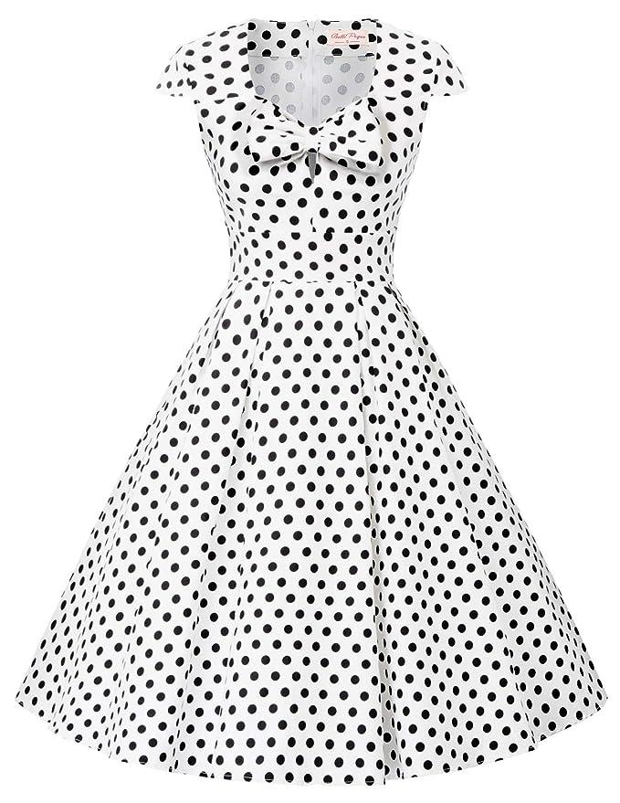 Belle Poque BP2049 - Vestido de Punto para Mujer, Estilo Rockabilly, Estilo Vintage de los años 50