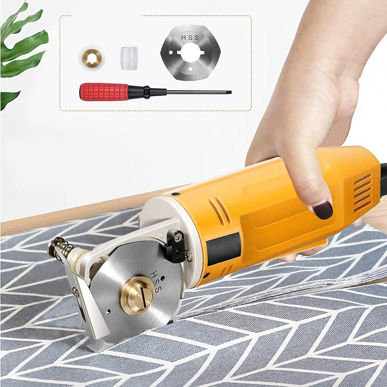Elektrischer Rotationsschneider Mini elektrischer Stoffschneider Handheld Rundmesser Stoffschneidemaschine f/ür Textiles Lederpapier mit einem Klingendurchmesser von 70 mm 220 V
