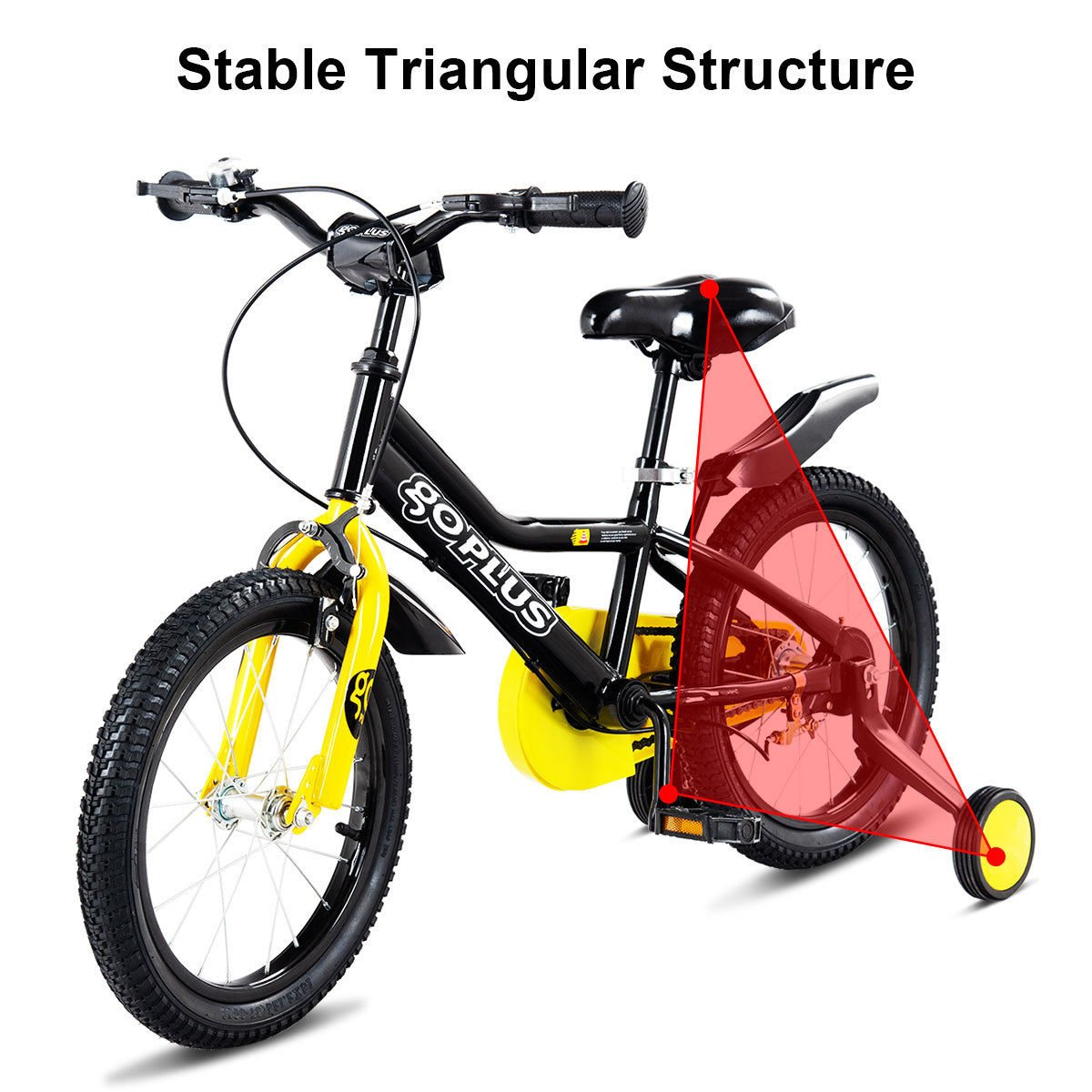 45bf4d43df1 Goplus 12'' Kid's Bike Freestyle Outdoor Sports Bicycle with Training  Wheels Boys Girls Cycling