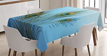 decorative kitchen decor.htm amazon com ambesonne peacock tablecloth  fluffy peacock feathers  ambesonne peacock tablecloth