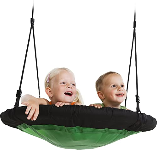 Swing-N-Slide NE 4630 Nest Swing Outdoor Swing with 40 Diameter, Green Black