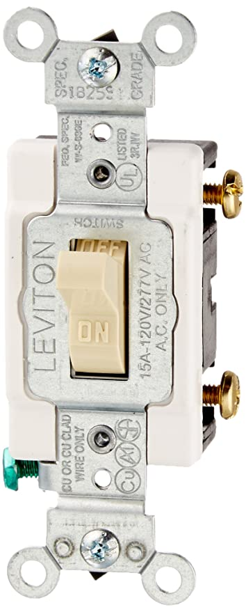 Leviton CS115-2I 15 Amp, 120/277 Volt, Toggle Single-Pole Ac Quiet ...