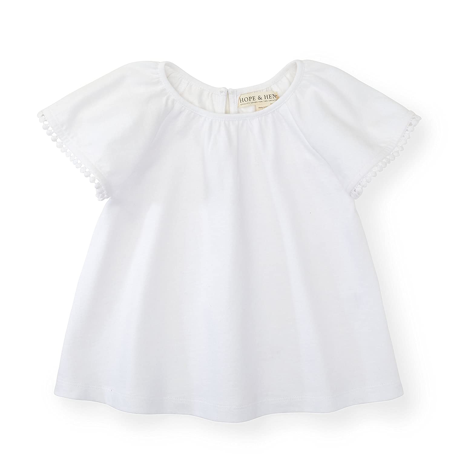 Hope & Henry Girls' Flutter Top M18G103KParent
