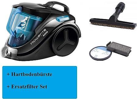 Rowenta RO3731EA Compact Power Cyclonic - Aspiradora sin bolsa (750 W, incluye juego de filtros y cepillo para suelos duros), color negro y azul: Amazon.es: Hogar