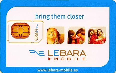 Amazon.com: Lebara España tarjeta SIM precargado con 10 Euro ...