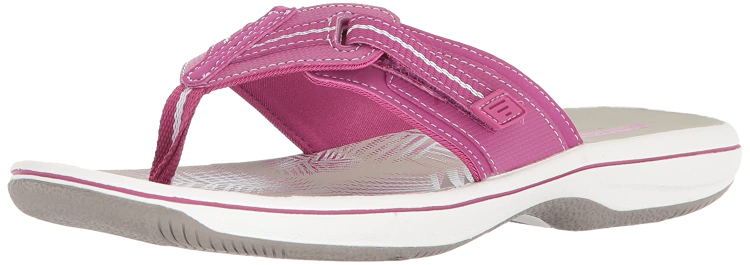Magenta Synthetic Clarks Women's Brinkley Jazz Flip Flops