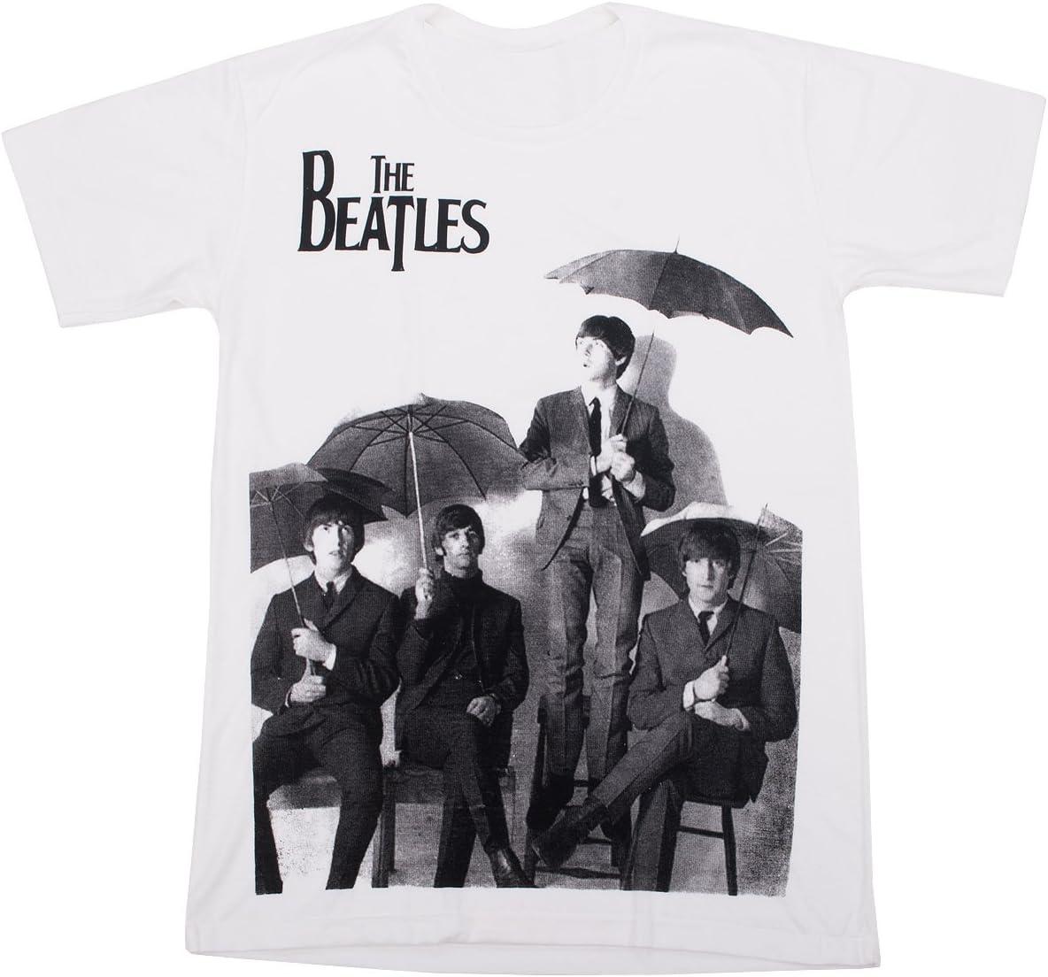 Los beatles bajo la lluvia los beatles camiseta para hombre ...